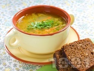 Рецепта Бистра зеленчукова супа с моркови, тиквички, картофи и фиде